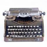 Xiuxiandianju Kreative Old Fashion Vintage Retro Grocery Tin Schreibmaschine Modell f¨¹r Haus-Fenster-Dekor , L