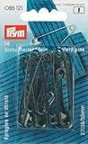 PRYM 27/38/50mm Sicherheit Pins mit Spule, 18Stück, schwarz