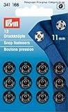 Prym Druckknöpfe zum Aufnähen, 11mm, Messing, Schwarz, 12 Stück