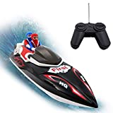 Felly Ferngesteuerte Boote, RC Boot, Motorboot Ferngesteuert mit 40MHz,12km/h High Speed Boot mit Funkfernsteuerung, Batteriebetrieben, Spielzeug für Kinder, das Boot für Pools und Seen