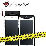 blindmonkey Slide Handyhülle Anti-Spy - für iPhone 8, 7, 6 & 6s inkl. Schutzglas, dünne Hülle mit Cam Cover, Kameraschutz, Spionageschutz - NEUHEIT - schwarz
