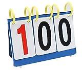 Liuer Tisch Top Tragbarer Anzeigetafel/Score Flipper,Sport Wettbewerbs Anzeigetafeln Wasserdicht Zähltafel Für Basketball Tischtennis Fußball Volleyball Badminton Tennis (3 stellig)