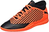 Puma Unisex-Kinder Future 2.4 IT JR Fußballschuhe, Schwarz Black-Shocking Orange 02, 36 EU