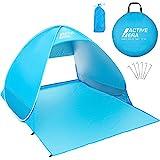Active Era Pop-up Strandzelt - UV-Schutz Schutzfaktor 50+ Sonnenschutz - Tragbar Einschließlich Tragetasche und Zeltpflöcke, Outdoor Beach Tent Portable Strandmuschel Wurfzelt