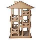 Furhaven Katzenmöbel/Kratzbrett für Katzen und Kätzchen, gewellt, Designs erhältlich, Turmspielplatz, One Size, Kartonfarben