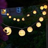 Uping Led Lichterkette 20er Batterienbetriebene Lampions Laterne für Party, Garten, Weihnachten, Halloween, Hochzeit, Beleuchtung Deko usw. 4,2M warmweiß