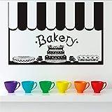 Wandaufkleber Kinderzimmer Wandaufkleber Schlafzimmer Aufkleber-Kuchen-Bäckerei-Dekor-französische Küchenfliese