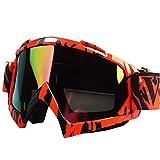 Calistouk Geländemotorrad Schutzbrille Winddich Motorrad Brille Augenschutz U815-COLOR