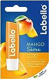 LABELLO Mango Shine im Lippenpflegestift mit zartem Glanz und Schimmerpigmenten und Mangoaroma, Lippenpflege ohne Mineralöle, 4.8 g