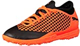 Puma Unisex-Kinder Future 2.4 TT JR Fußballschuhe, Schwarz Black-Shocking Orange 02, 33 EU