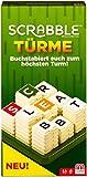 Mattel Games GCW07 Scrabble Türme Wörterspiel, Familienspiel geeignet für 2 - 4 Spieler, Spieldauer ca. 20 Minuten, ab 10 Jahren