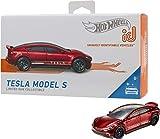 Hot Wheels iD FXB14 - Die-Cast Fahrzeug 1:64 Tesla Model S mit NFC-Chip zum Scannen in der Hot Wheels iD App, Auto Spielzeug ab 8 Jahren