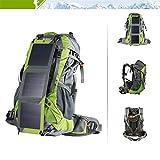 High-End-Wanderrucksack Solar Laden Outdoor-Bergsteiger-Rucksack, abnehmbare USB-Schnelllade-Rucksack (geben Sie Wasserdichte Leuchtuhr)