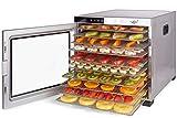 Dörrautomat Edelstahl Vita5 Nobel PRO • 24 Stunden Timer • LED Bedienfeld für Temperatur & Timer • Komplettset (10 Etagen)