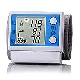 JZK Handgelenk-Blutdruckmessgerät professionelle digitale Blutdruk- und Herzfrequenz Pulsmonitor, LCD Display und tragbares Aufbewahrungsbox