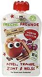 Freche Freunde Bio Quetschie, Winterapfel - 100% Apfel, Traube, Zimt & Nelke', Fruchtmus im Quetschbeutel für Kinder und Babys ab 1 Jahr, 4 x 4er Pack, (16 x 100g)