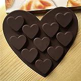 Luckiests Romantische Liebe Silikon Formen Silikagel-Schokolade-EIS-Behälter-EIS-Form-Liebes-Form Kleine Herz-Kuchen-Form