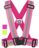 Warnweste / Reflektorweste / Sicherheitsweste / Reflektoren / Signalweste / Reflektor zum Laufen Motorrad Radfahren Fahrrad, rosa - damen, tolles geschenk. Reflective / Safety Vest for Walking Biking Cycling Running Sport For Men Women - Pink S M L