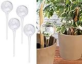 Royal Gardineer Bewässerungskugeln Glas: 4er-Set Gießfrei-Bewässerungs-Kugeln aus Glas, transparent, Ø 6 cm (Wasserkugel)