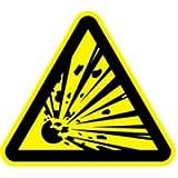 Schild Warnzeichen Warnung vor explosionsgefährlichen Stoffen 30cm sl Alu