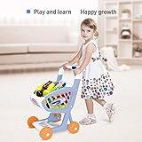 Baobë Einkaufswagen Spielzeug Einkaufswagen Supermarkt mit Gemüse / Obst / Gewürze Flaschen / Snack Packs 22 PCS Spielzeug Pretend Play Rollenspiel Lernspielzeug