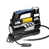 Qi Peng-//Auto Luftpumpe, Doppelzylinder, 60 Sekunden schnelles Aufpumpen, Reifen-Elektrofahrzeug tragbares Fahrzeug Hochdruckpumpe Auto Luftpumpe