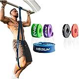 ActiveVikings Pull-Up Fitnessbänder | Perfekt für Muskelaufbau und Crossfit Freeletics Calisthenics | Fitnessband Klimmzugbänder Widerstandsbänder (3 - Blau : Medium (Mittelstarker Widerstand))