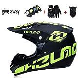 LWKXY Motocross-Helm, Leichter Berg-vollgesicht-Helm Mit Helm