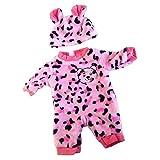 Fenteer Niedliche Babypuppe Kleidung, Overall+Hut / Top+Hose+Hut / Umhang+Kleid Outfit Set Für 50 cm Baby Puppen - # 5