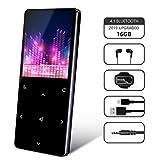 MP3 Player, HOLALEI 16GB Bluetooth Sport Musik Player, 22 Stunden Wiedergabe Musikplayer mit FM Radio Voice Recorder E-Book 1.8'' TFT Bildschirm (mit Köpfhörher, Sport Armband)