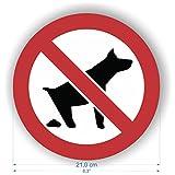 Sicherheitsschild – Hunde-Verboten-Symbol, Aufkleber, selbstklebend, 210 mm Durchmesser, 2 Stück