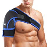 SGODDE Schulterbandage, Verstellbare Schulter Unterstützung Bandage für Verletzungen,Schulterschmerzen, arthritische Schultern, Neopren Schulterwärmer, für Linke/Rechte Schulter, Männer/Frauen