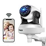 WLAN IP Kamera HD 720p, Hi-Tech Kamera IP WiFi Indoor Überwachungskamera, P2P mit Mikrofon und Lautsprecher,Nachtsicht, Bewegungserkennung,Sicherheit für Baby und Haustier,kompatibel mit iOS,Android