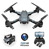SNAPTAIN A15H Drohne mit Kamera HD 720P Faltbare Drohne FPV WLAN 120°Weitwinkel RC Quadrocopter/KopflosModus/Höhehalten/3D Flips/Flugbahnflug/Sprachsteuerung/Gravitationssensor/Notlandung