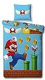 Character World Wende Bettwäsche Set Super Mario, 135x200 cm 80x80 cm, 100% Baumwolle, Games, 100% Baumwolle, Linon