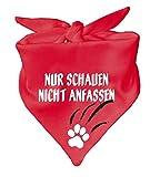 Hunde Dreiecks Halstuch (Fb: rot) Nur schauen nicht anfassen