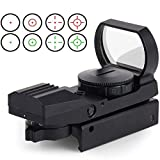 Greyghost 11mm red dot visier,Rail Rifle Range Shooting Hunting Airsoft Reflex Holographic Red Dot Sight Area Look 4 Reticle Tactical Accessories(not work on 20mm)