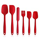EKKONG Silikon Spatel, Silikon Küchenutensilien Hochwertige Hitzebeständige, Antihaft-Küchenbackwerkzeuge Küchenhelfer Set, Küchenhelfer Utensilien Sets Silikon Spatel-6Pcs