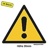 Allgemeines Warnzeichen 30 mm (24 Stück)