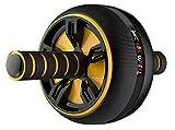 Brmind-Abdominal muscle wheel Bauchgerät - gelb, Einheitsgröße, Unisex-Version