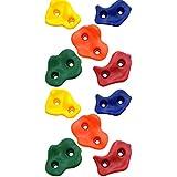 Robuste Klettersteine für Spielturm Kletterwände Klettergriffe bunt für Kletterwand Spieltürme Boulderwand 10 - 60 Stück SPARSETS inkl. Schraubenset (10 Stück)