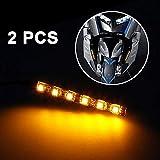 gaddrt 2x Mini Strip Schwarz LED Motorrad Blinker Universal Bernstein Lichter Streifen 6LED