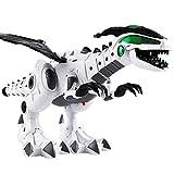 Elektronisches Roboter-Dinosaurier-Spielzeug, Gehendes Dinosaurier-Spielzeug mit Ton, Licht, Spitfire, Shake Tail und Wings