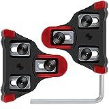 SPD-SL Fahrradschuhe Pedalplatten 6 Grad Schweben, Fahrrad-Schuhplatten Cleats Set von Selbst Schließend mit Schraubenschlüssel für Die Meisten Straßenradfahren Schuhe