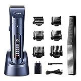 HATTEKER Haarschneider Herren Profi Haarschneidemaschine Elektrischer Bartschneider Haartrimmer Präzisionstrimmer Männer Wiederaufladbare USB