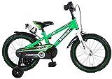 Kinder Fahrrad Kawasaki KBX 16 mit Rücktrittbremse und Trinkflasche 95% montiert