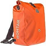 Rohtar 3in1 Fahrradtasche - wasserdicht & reflektierend - als Gepäckträgertasche, Umhängetasche & Rucksack einsetzbar - ideale Gepäcktasche fürs Fahrrad - 18L/25L (schwarz/gelb/rot) - (Rot, 25L)