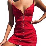 Kleider Sommer Damen Die Mode Frauen Sexy Retro Hosenträger Gesäß Rock Zipper Kleider