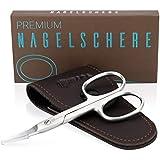 KIBAGA Nagelschere Für Männer- und Frauenhände - Extrem scharfe Premium Nagel Schere mit gebogener Schneide für stets gepflegte Nägel
