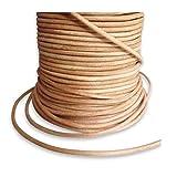Auroris 25 m Rolle Lederband, rund Durchmesser 1,5 mm, natur